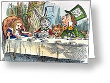 Alices Mad-tea Party, 1865 Greeting Card