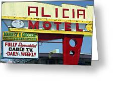 Alicia Motel Las Vegas Greeting Card