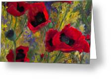 Alicias Poppies Greeting Card