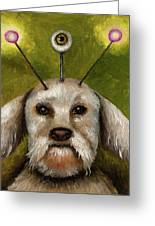 Alien Dog Greeting Card