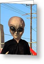 Alien Face At 6th Street Bridge Greeting Card