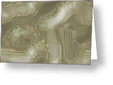 Alien Fluid Metal Greeting Card