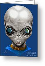 Alien From Space Greeting Card