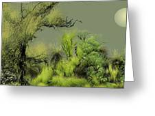 Alien Garden 2 Greeting Card