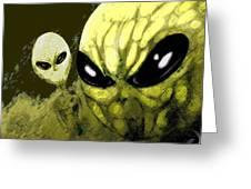 Alien Invasion Greeting Card