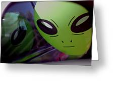 Alien Is Closer Than He Appears Greeting Card