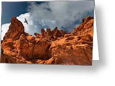 Alien Landscape Valley Of Fire Greeting Card