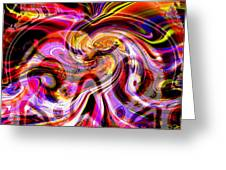 Alien Mind On Fire. Greeting Card