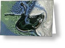 Alien Ocean Sigil Greeting Card