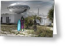 Alien Space Ship House Florida Architecture Greeting Card