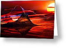 Alien Sunrise Greeting Card