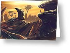 Alien Territory Greeting Card
