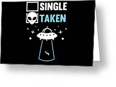 Alien Ufo Single Gift Greeting Card