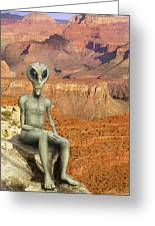 Alien Vacation - Grand Canyon Greeting Card