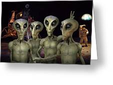 Alien Vacation - Kennedy Space Center Greeting Card