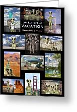 Alien Vacation - Poster Greeting Card