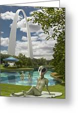 Alien Vacation - St. Louis Greeting Card