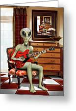 Alien Vacation - We Roll With Jazz Greeting Card
