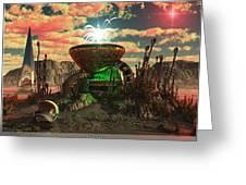 Alien World 2 Greeting Card by Jim Coe