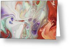Alien Worlds. Abstract Fluid Acrylic Painting Greeting Card