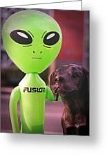 Alien's Best Friend Greeting Card