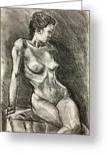 Alison Charcoal On Paper From Observation  Greeting Card
