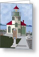 Alki Point On Elliott Bay Greeting Card
