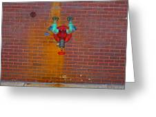 All Alone Red Pipe Greeting Card