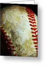 All American Pastime - Baseball - Vertical Cut - Painterly Greeting Card