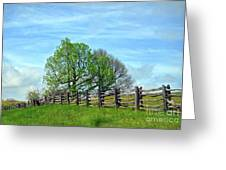 All Fenced In Along The Blue Ridge Parkway Greeting Card