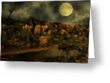 All Hallows Moon Greeting Card