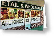 All Kinds Of Produce Greeting Card