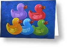 All My Ducks In A Row Greeting Card