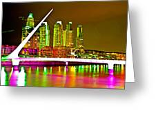 All Night Puerto Madero Greeting Card