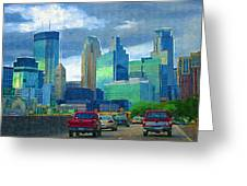 All Roads Lead To Minneapolis Greeting Card