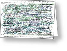 All The Presidents Signatures Teal Blue Greeting Card
