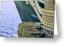 All Tied Up In Port Jefferson No 1 Greeting Card
