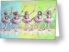 All Together Now...first Ballet Recital Greeting Card
