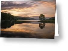 Allegany Sunset Greeting Card