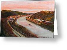 Allegheny Valley Greeting Card by Martha Ressler