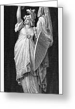 Allegory: Columbia, 1870 Greeting Card
