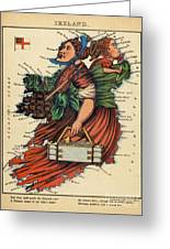 Allegory Of Ireland Greeting Card