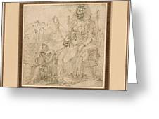 Allegory Of Pride Greeting Card