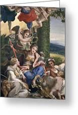 Allegory Of The Virtues Greeting Card