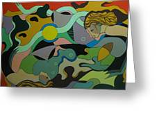 Allegory-the Double Personality Greeting Card