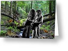 Allen And Steve Jam With Friends On Mt. Spokane Greeting Card