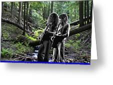 Allen And Steve On Mt. Spokane Greeting Card