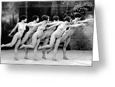 Allen Chorus Line, 1920 - To License For Professional Use Visit Granger.com Greeting Card
