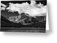 Allen Mountain Towers Over Swift Current Lake Greeting Card