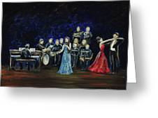 Allen Myers' Jazz Orchestra Greeting Card